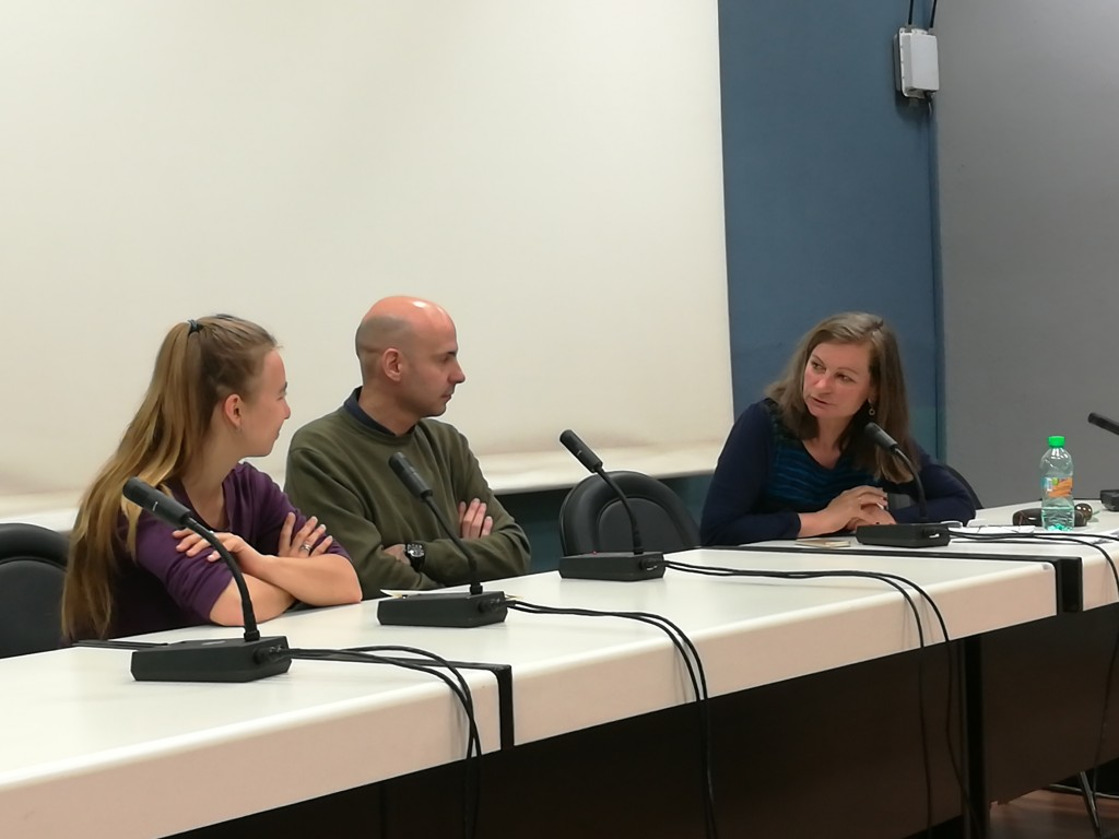 Diskussion von Panelteilnehmern