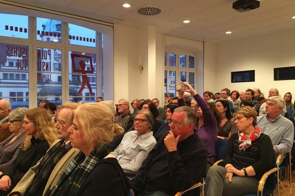 Publikum bei Lesung Leipzig