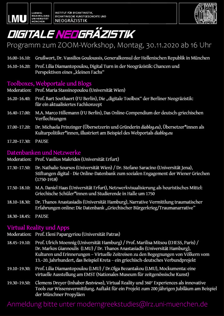 programm digitale neograezistik zoom workshop